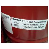 One Drum of Kendall GT-1 Max Motor Oil with Liquid Titanium SAE 0W20
