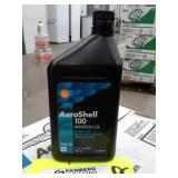 2 Cases of Aeroshell Aviation 100 Oil