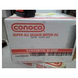 4 Cases of Conoco Super All Season Synthetic Blend SAE 10W-30 Motor Oil