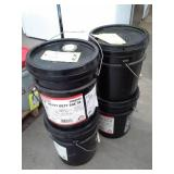 4 Pails of Phillips 66/Conoco T5X Heavy Duty SAE 40 Engine Oil for 2-Stroke Diesel Engines