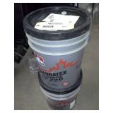 Two Pails of Petro-Canada Enduratex Synthetic EP 220 Industrial Gear Oil