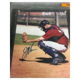 Autographed Joe Mauer Minor League Plaque