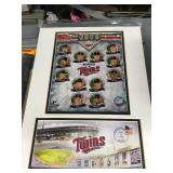 2008 Minnesota Twins Team Matted Art And First Day Cover