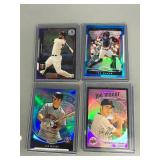 Four Joe Mauer Numbered Cards