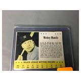 1963 Post Cereal Mickey Mantle Card