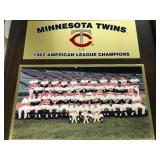 1965 Minnesota Twins American League Champions Plaque
