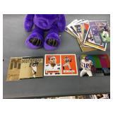 Randy Moss Bear & 25 Randy Moss cards