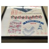 Extremely Rare 1961 Minnesota Twins Schedule - Autographed By Zoilo Versalles!