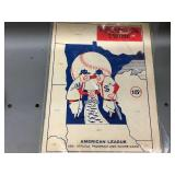 1961 Minnesota Twins Official Program And Score Card - First Year!
