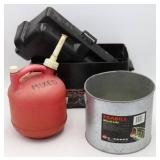 Battery Case, Minnow Bucket & 1.25g Gas Can