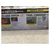 MoJack Hitch Plus+ 3 in. Multi-Use Hitch Attachment and 26 in. Tool Carrier in good condition