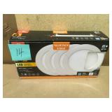 Globe Electric Designer Ultra Slim 6 in. White Integrated LED Recessed Kit (4-Pack) in good condition