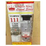 Waste King Legend Series 1/3 HP Continuous Feed Garbage Disposal in good condition