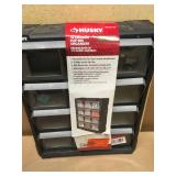 Husky 12-Compartment Small Parts Bin Organizer not used