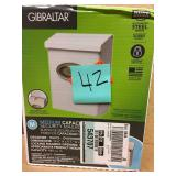 Gibraltar Mailboxes Designer White Satin Nickel Decorative Emblem Vertical Wall-Mount Locking Mailbox in good condition