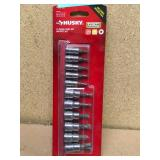 Husky 1/4 and 3/8 in. Drive Torx Bit Socket Set (11-Piece) in good condition