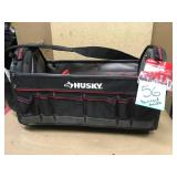 Husky 20 in. Pro Tool Tote with Removable Tool Wall Damged Handle in good condition