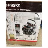 Husky 4.5 Gal. Portable Electric-Powered Silent Air Compressor in good condition