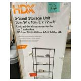 HDX 5-Shelf Black Wire Shelving Unit in good condition
