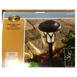 Hampton Bay Solar Bronze Outdoor Integrated LED Landscape Fan Cage Path Light with Water Glass Lens (6-Pack) not used