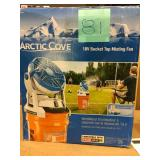Arctic Cove 18-Volt Two Speed Misting Bucket Top Fan in good condition