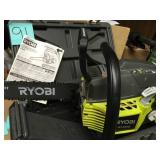 RYOBI 18 in. 38cc 2-Cycle Gas Chainsaw with Heavy Duty Case in good condition