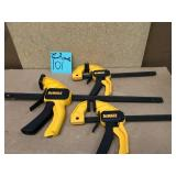 DEWALT 12 in. BAR Clamps 2.5 in. Throat Depth QTY 3 not used