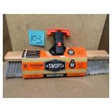 Swopt 18 in. Premium Smooth Surface Push Broom Head in good condition