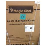 Magic Chef 2.0 cu. ft. Compact Top Load Washing Machine in White, Portable with Stainless Steel Tub in good conditions