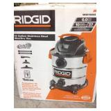 RIDGID 10 Gal. 6.0 Peak HP Stainless Wet Dry Vac in good conditions