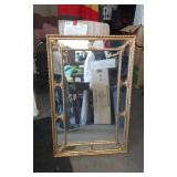 Ornate Gold Tone Mirror By LaBarge 25x39