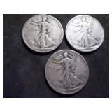 1936, 1936 D, 1936 S  Walker Half Dollars