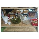 Owl Tea Pot, Large Glass Bowls, Gold Tone Flatware, 5-Piece Caraf Set, Mixer, More.