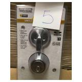 Universal Hardware Commercial 2-3/4 in. Single Cylinder Satin Chrome Heavy-Duty Industrial Deadbolt n good condition
