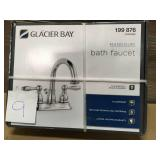 Glacier Bay Mandouri 4 in. Centerset 2-Handle High-Arc Bathroom Faucet in Chrome n good condition