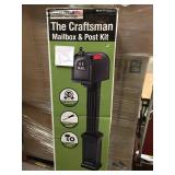 Postal Pro Craftsman Mailbox and Post Kit, Black n good condition