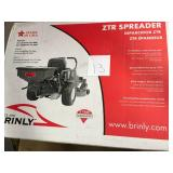 Brinly-Hardy Rear Mounted ZTR Spreader not used