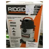 RIDGID 6 Gal. 4.25-Peak HP Stainless Steel Wet Dry Vac n good condition