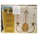 Hampton Bay Estelle 2-Light Champagne Sconce n good condition