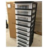 IRIS 108 Qt.10-Drawer Storage Bin in Black n good condition