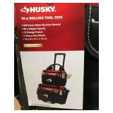 Husky 14 in. Rolling Tool Tote 1 only not used