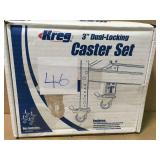 Kreg 3 in. Dual Locking Caster Set (Set of 4) n good condition