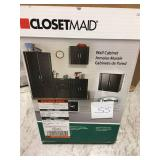 ClosetMaid 12.25 in. D x 24 in. W x 24 in. H 2-Door Wall Cabinet Laminate Closet System in Black not used