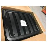 IRIS 32 Qt. Stack and Pull Storage Box in Black (6-Pack) not used