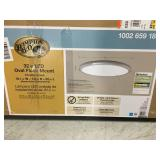Hampton Bay Edge Lit 64-Watt Chrome Integrated LED Ceiling Flushmount in good condition