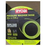 RYOBI 1/4 in. x 35 ft. 3,300 PSI Pressure Washer Replacement Hose in good condition