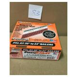 Pneu-Fast 3 in. x 0.120 in. Ring Hot Galvanized 30-34 Degree Paper Tape Clipped Head Framing Nails in good condition