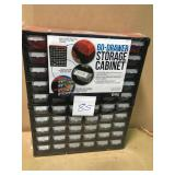 Red Small Parts Organizer 60-Compartment in good condition