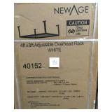 NewAge Products Performance 96 in. L x 48 in. W x 42 in. H Adjustable VersaRac Ceiling Storage Rack in White QTY 2 not used