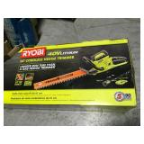 RYOBI 24 in. 40-Volt Lithium-Ion Cordless Hedge Trimmer - 2.6 Ah Battery and Charger Included in good condition